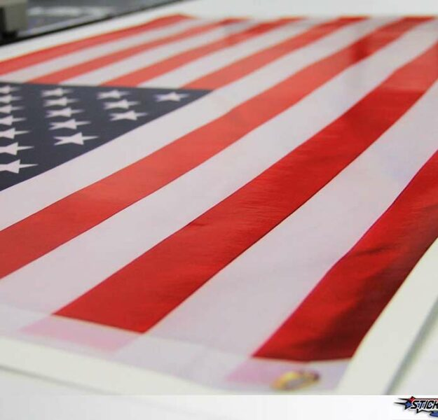 American Flag Large Format Stickers