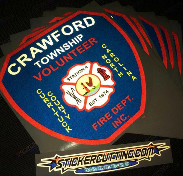 Crawford Fire Reflective Large Format Stickers