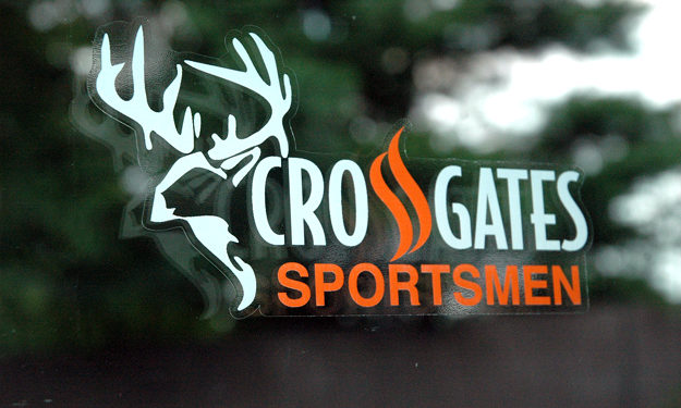 Outdoor clear hunting sticker applied to glass