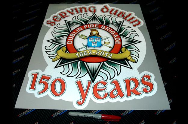 Reflective Fire Brigade Sticker