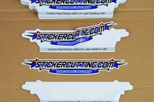 Kiss Cut Vinyl Stickers applied - Glossy Laminate