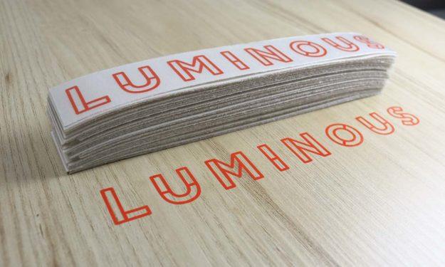 Luminous Die Cut Stickers in Orange Vinyl