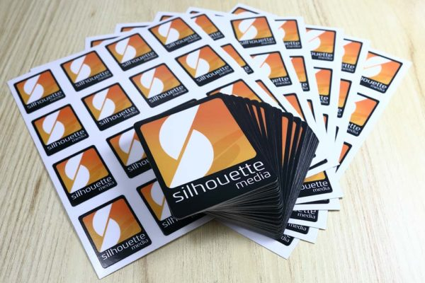 Contour Cut Silhouette Media Custom Stickers - Glossy Laminate