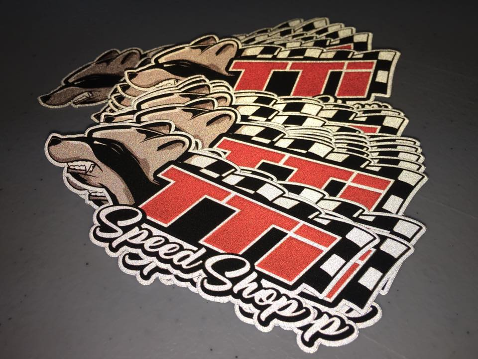 TTI Speed Shop Reflective Stickers Glowing