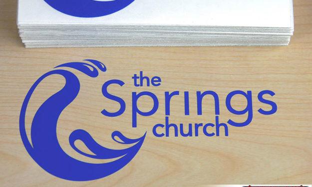 The Springs Die-Cut Sticker Applied