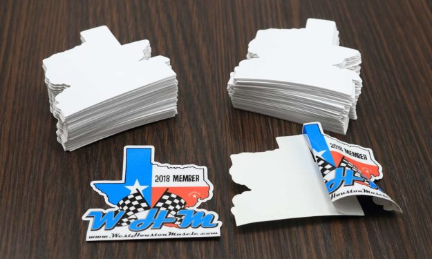 West Houston Muscle Face Adhesive Stickers