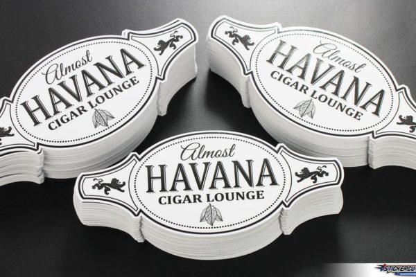 Contour Cut Almost Havana Cigar Premium White Stickers