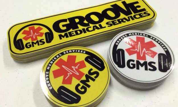 Reflective Medical Stickers Outdoor Ready