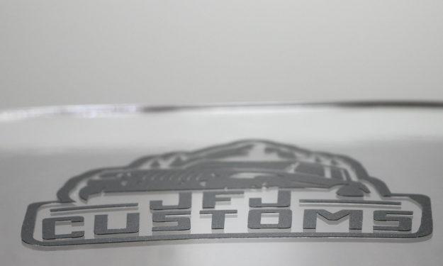 Custom Matte Black Vinyl Die Cut Stickers