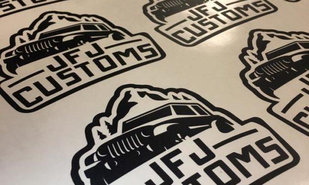 Black Die Cut Stickers in Progress