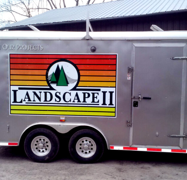 Landscaping Trailer Large Format Stickers