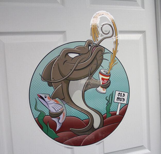 Large Format Custom Door Sticker