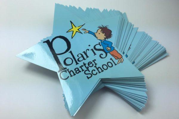 Charter School Contour Cut Stickers - Glossy Laminate