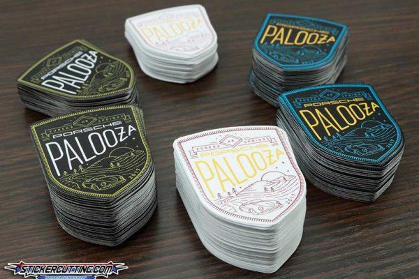 Contour Cut Porsche Palooza Stickers - Glossy Laminate