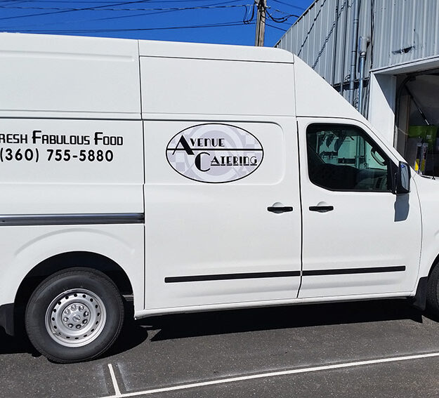 Catering Vehicle Graphics Applied