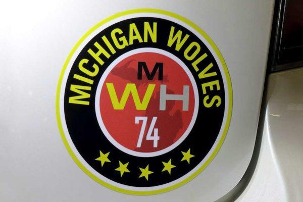Michigan Wolves Custom Vinyl Stickers - Glossy Laminate