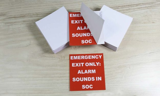 Emergency Alarm Sounds Face Adhesive Stickers