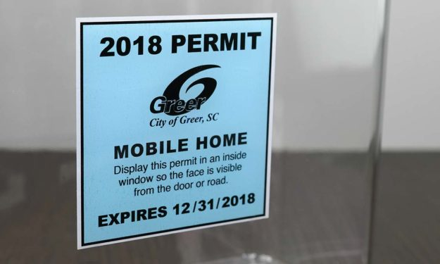 Greer Mobile Home Park Front Adhesive Stickers