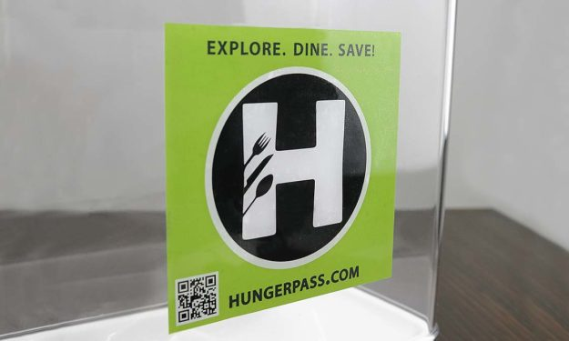 Hunger Pass Diner Face Adhesive Stickers