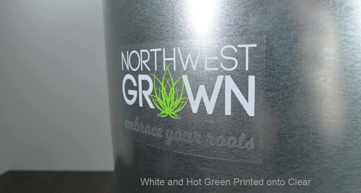 Custom clear stickers with white ink outdoor transparent vinyl decals