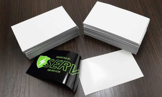 Protected by Serv Front Adhesive Stickers