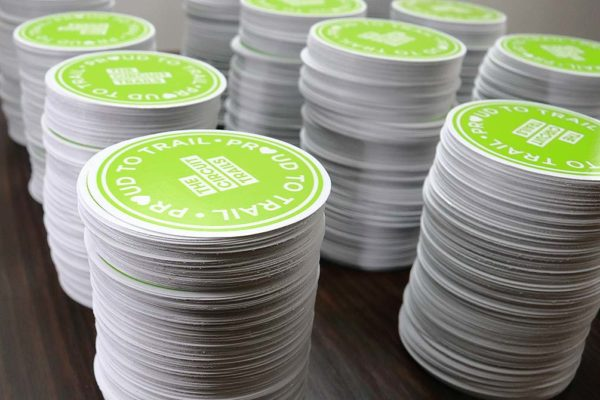 Contour Cut Proud to Trail Stickers - Glossy Laminate