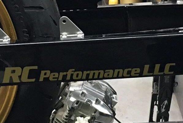 RC Performance Die Cut Sticker Applied