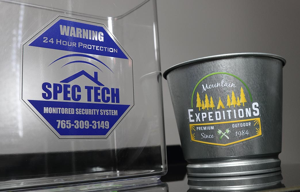 Custom Clear Stickers with White Ink   Outdoor Transparent
