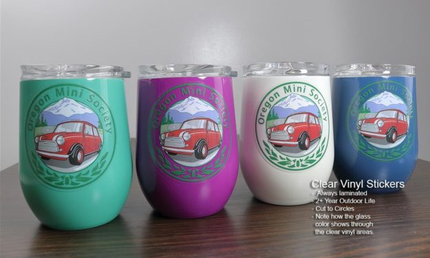 Clear Vinyl Cup Mug and Glass Stickers