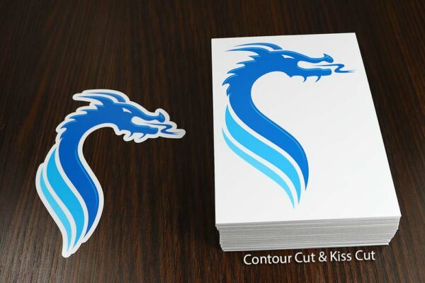 Kiss Cut and Contour Cut Dragon Stickers - Glossy Laminate