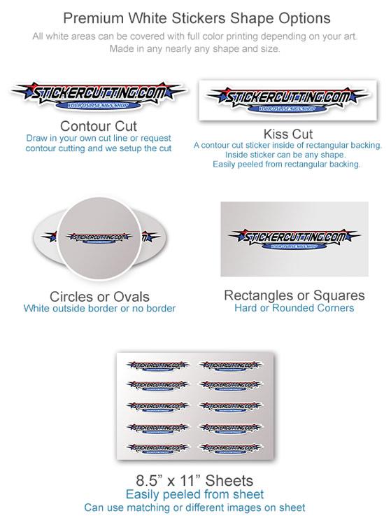 Custom Vinyl Stickers Custom Shape Options