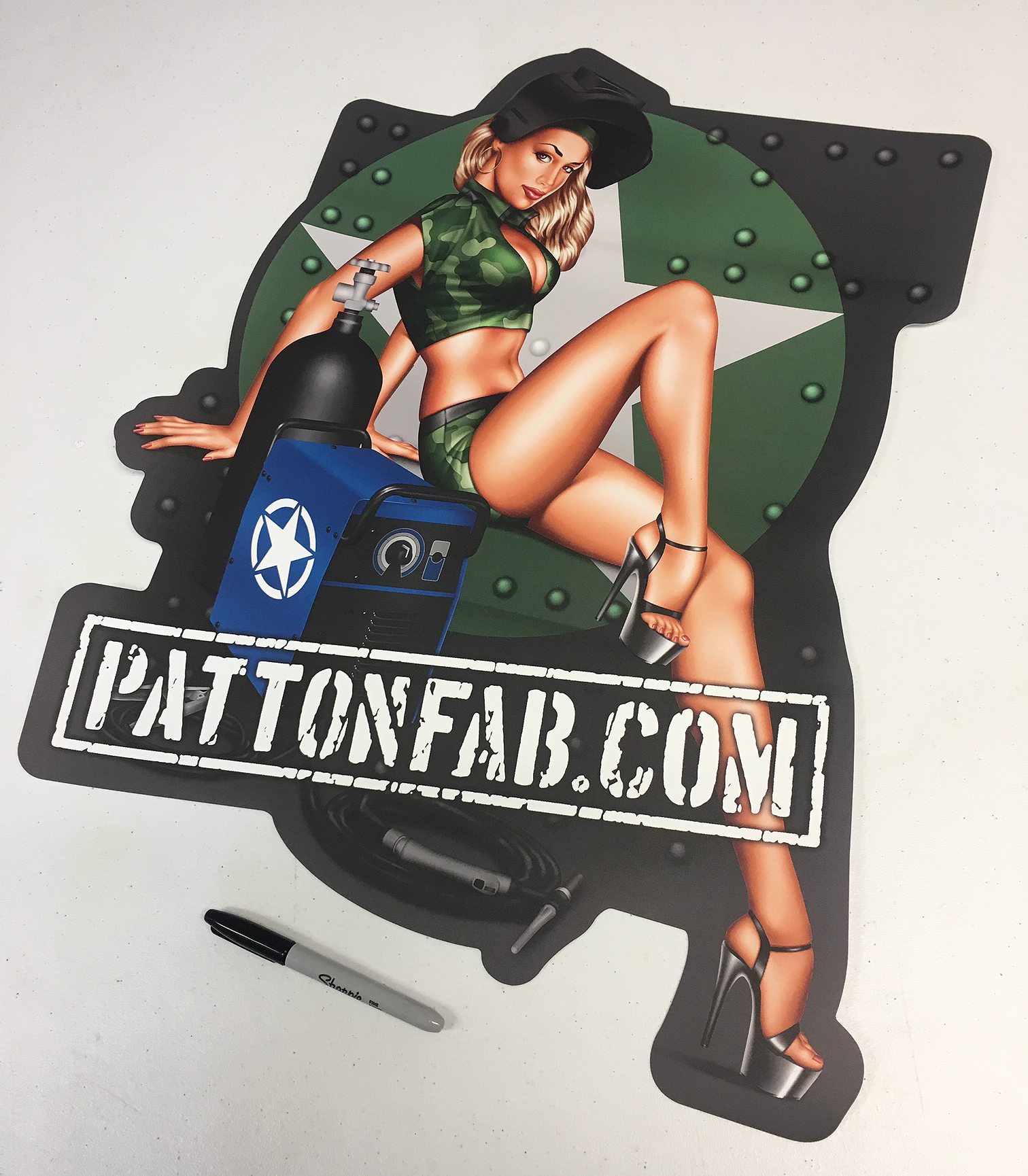 Patton Fab Company Wall Sticker