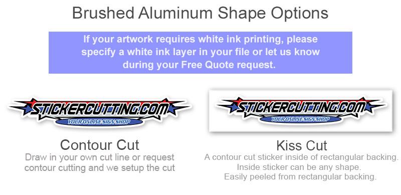 Brushed Aluminum Shape Options