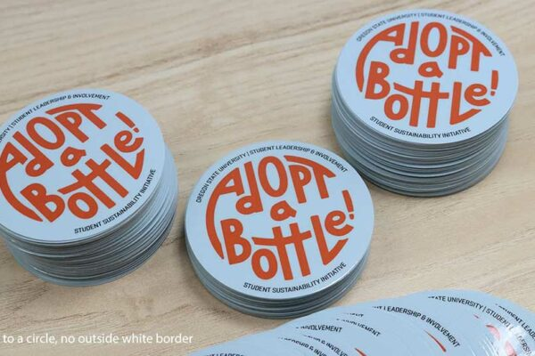 Contour Cut Recycling Stickers