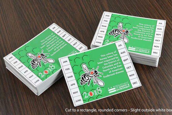 Contour Cut Honey Bee Labels