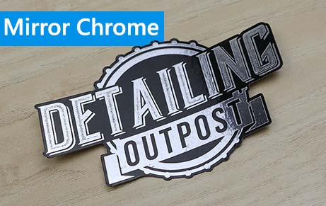 Mirror Chrome Product Labels