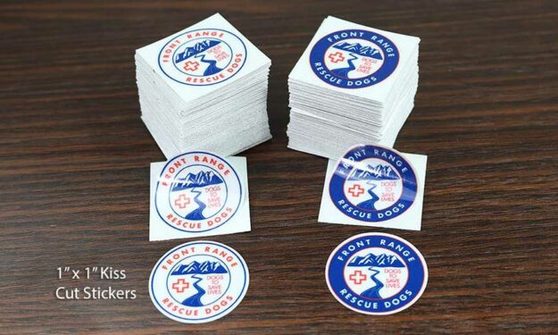 Rescue Dogs Small Reflective Circle Stickers