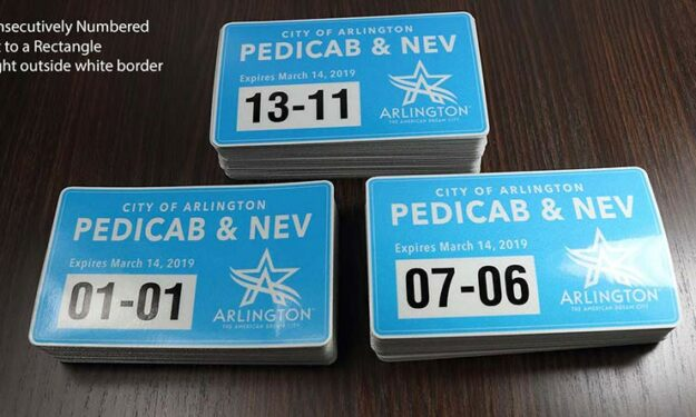 Reflective Parking Pass Taxi Cab Stickers