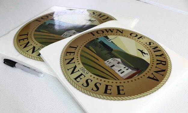 Custom Smyrna Tennessee Outdoor Stickers
